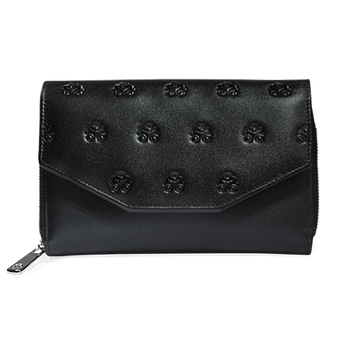 Two-tone Black Leather Wallet