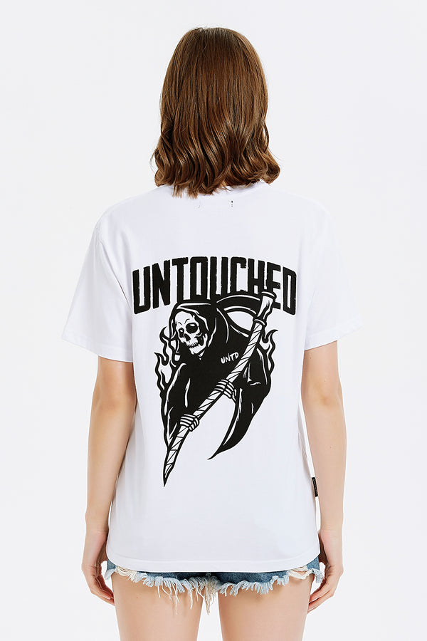 T1905WH | GRIM REAPER-TEE-UNTOUCHED UNITED