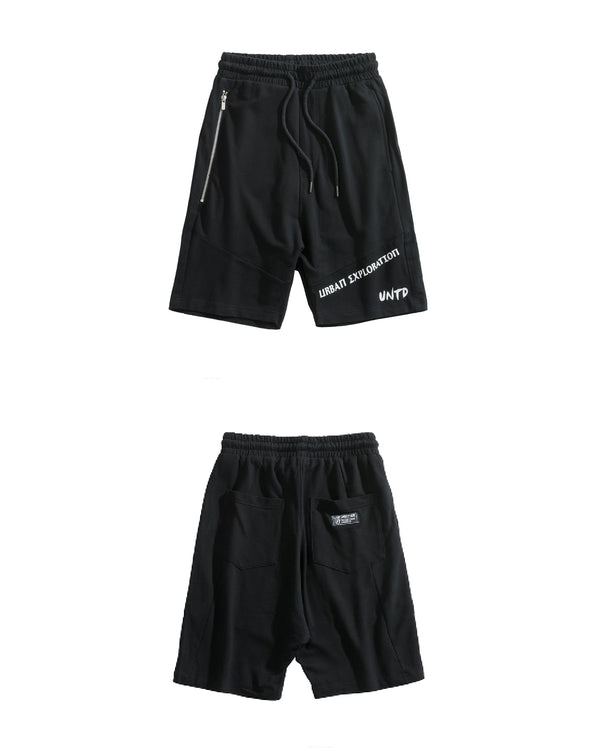 UT054BK | URBANEXPL KITTED SHORTS-SHORTS-UNTOUCHED UNITED