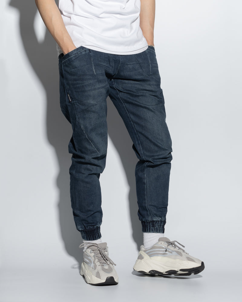 UT029NY | WASHED DENIM JOGGERS-JOGGERS-UNTOUCHED UNITED