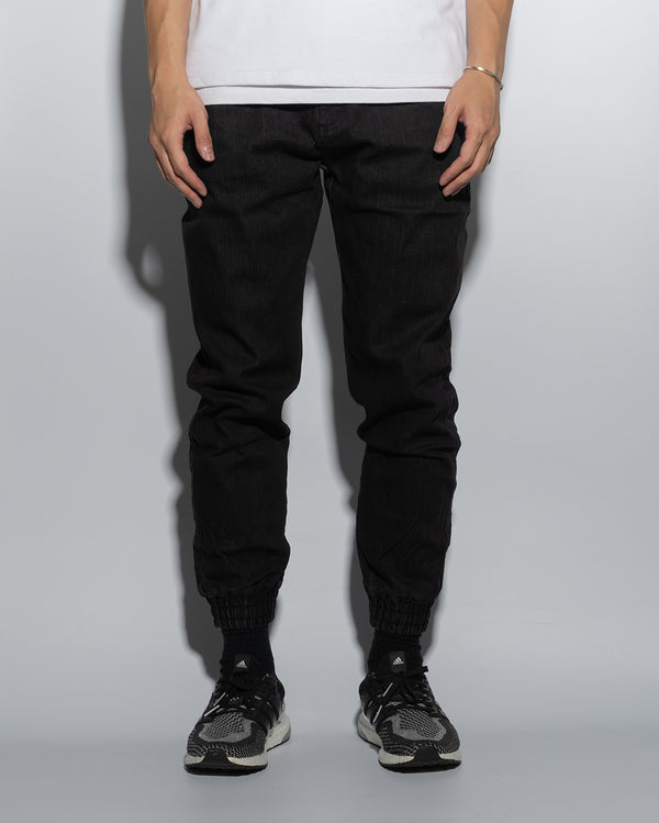 UT005BK | DENIM JOGGERS-JOGGERS-UNTOUCHED UNITED