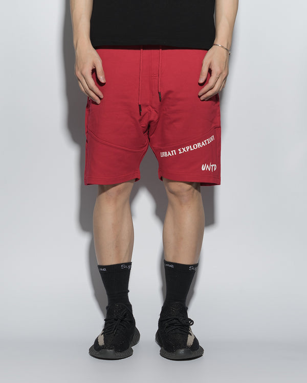 UT054RD | URBANEXPL KITTED SHORTS