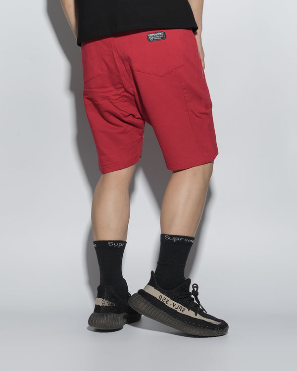 UT054RD | URBANEXPL KITTED SHORTS-SHORTS-UNTOUCHED UNITED