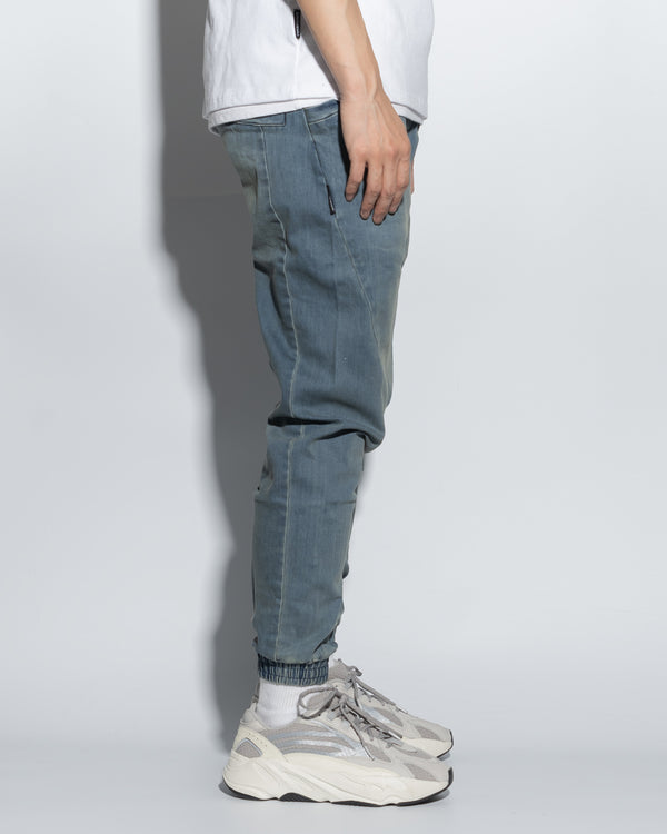 UT029XNY | WASHED DENIM JOGGERS-JOGGERS-UNTOUCHED UNITED
