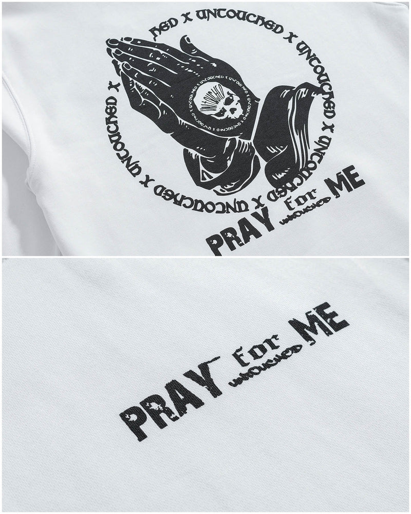 HD106WH | PRAY FOR ME-HOODIES-UNTOUCHED UNITED