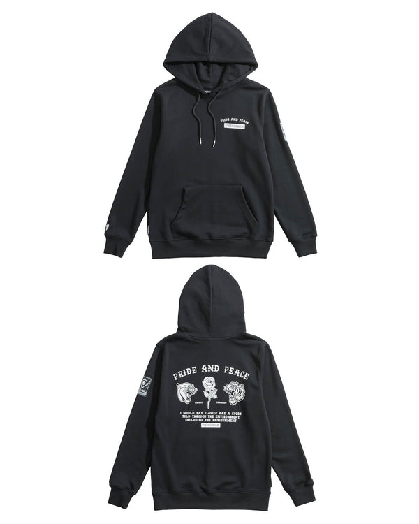HD107BK | PRIDE AND PEACE-HOODIES-UNTOUCHED UNITED