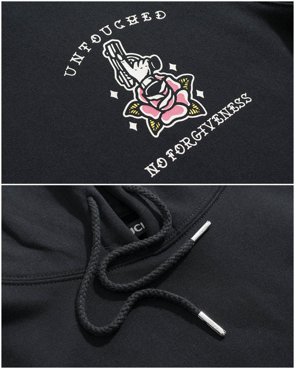 HD109BK | NO FORGIVENESS | THE UNDERGROUNDS-HOODIES-UNTOUCHED UNITED