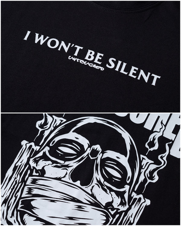 T2015BK | I WON'T BE SILENT-TEE-UNTOUCHED UNITED