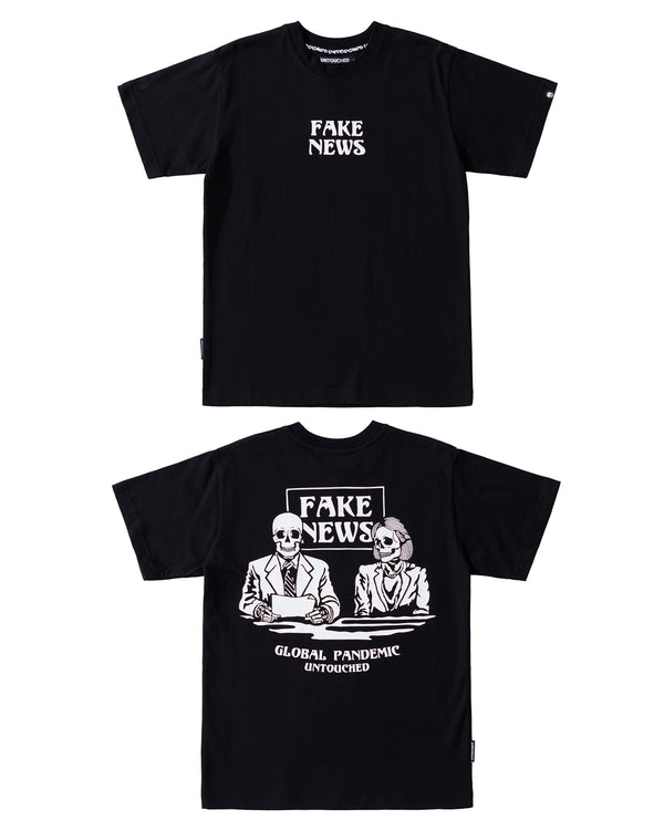 T2026BK | FAKE NEWS-TEE-UNTOUCHED UNITED