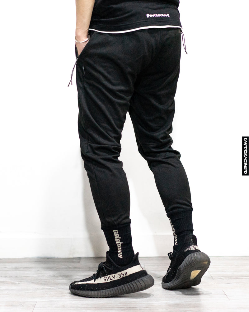 UT053GY | W.PROOF ZIPPER KNITTED JOGGERS