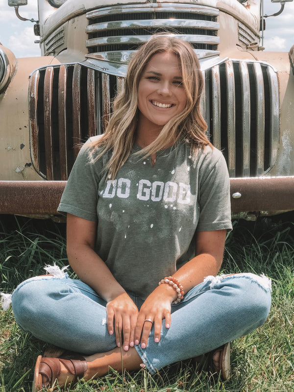 Do Good Distressed Tee