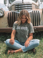 Do Good Distressed Crop Tee