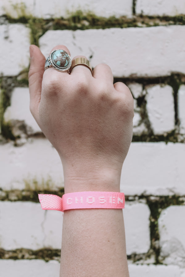 CHOSEN Old School Bracelet -Pink (10 pack)