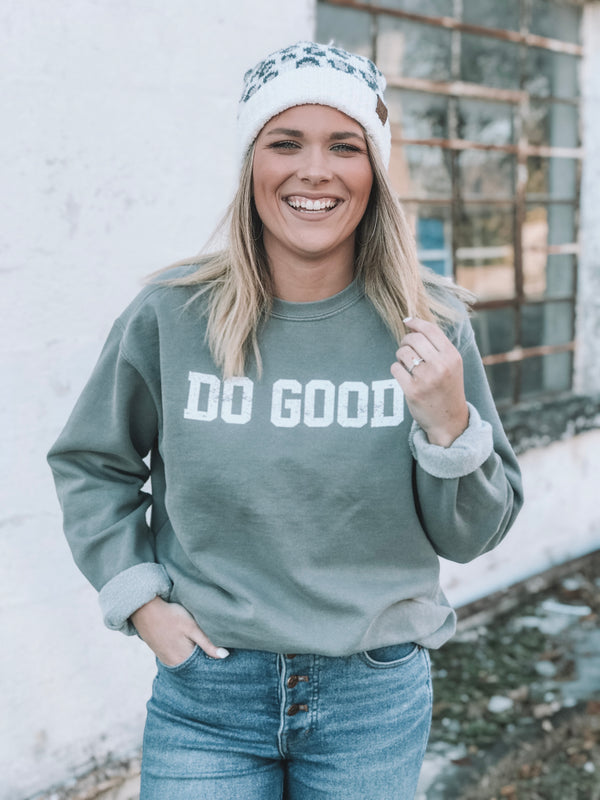 Do Good Crewneck Fleece - Grey