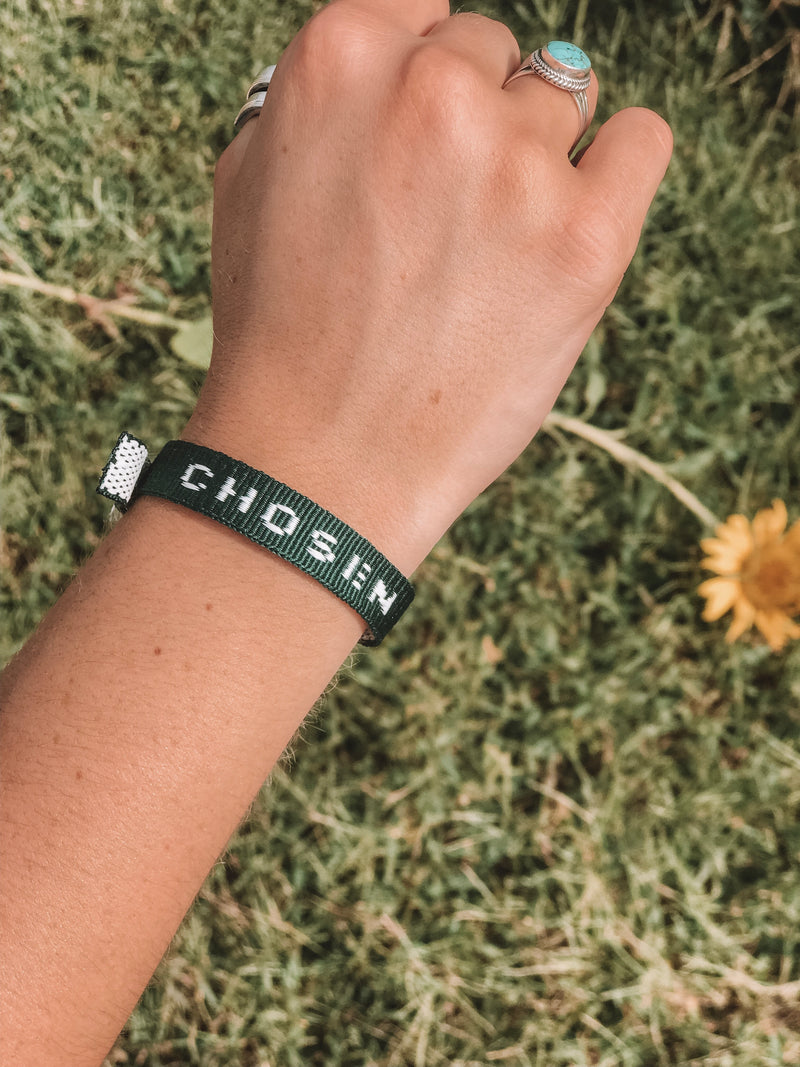 CHOSEN Old School Bracelet - hunter green