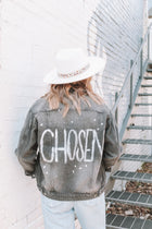 CHOSEN Distressed Black Denim Jacket