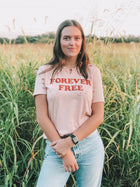 Forever Free Distressed Tee