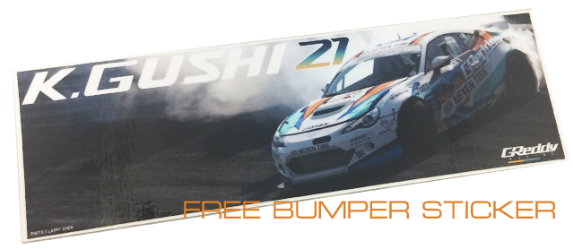 FREE GReddy Racing Bumper Sticker with any GReddy Racing x KGUSHI21 Item