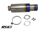 "Universal 2.5"" RS-Ti Titanium Muffler (140) and Tip (105)"