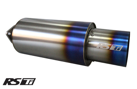 "Universal 3.0"" RS-Ti Titanium Muffler (160) and Tip (115)"