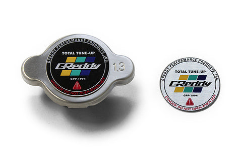 GReddy High Pressure Radiator Cap - 1.3kg/cm2 - New Finishes, Black, Polished, and Brushed