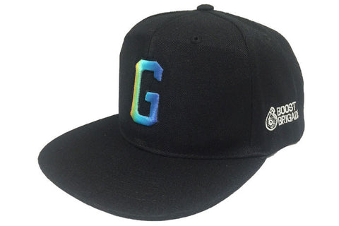 "GReddy x Boost Brigade ""G"" Snap-Back Cap - Black / Gradient"