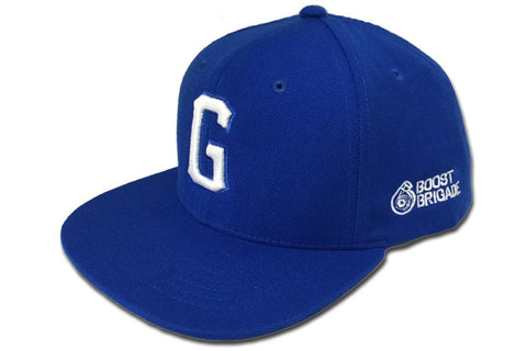 "GReddy x Boost Brigade ""G"" Snap-Back Cap - Royal / White"