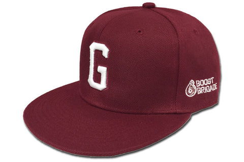 "GReddy x Boost Brigade ""G"" Snap-Back Cap - Burgundy / White"