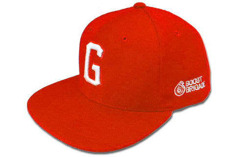 "GReddy x Boost Brigade ""G"" Snap-Back Cap - Red / White"