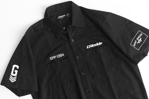 GReddy x Boost Brigade Mechanic's Shirt - Black - Back In-stock!