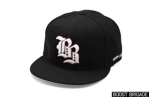 Boost Brigade Old English BB Fitted Cap - with Custom Interior and lid
