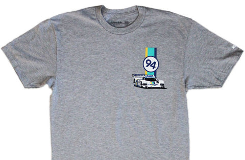 GReddy Performance Products 3 Stripe Tee, 962C - Heather Grey