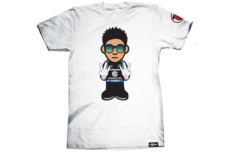 GReddy x KGUSHI21 Cartoon White Tee