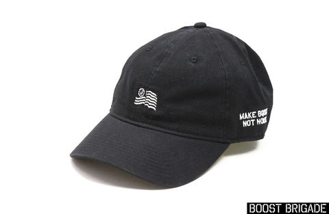 Boost Brigade Wavy Flag Logo Dad Cap - Black