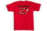 NEW!  KG21 (Ken Gushi) GReddy Racing 2017 Red Tee