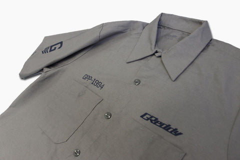 GReddy x Boost Brigade Mechanic's Shirt - Grey - Back in-stock