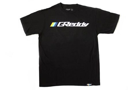 GReddy OG Logo Tee (with 3 stripes) - Black