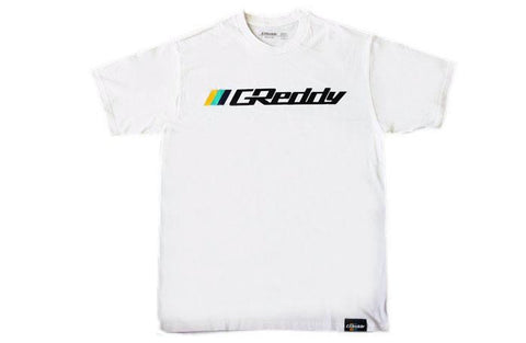 GReddy OG Logo Tee (with 3 stripes) - White
