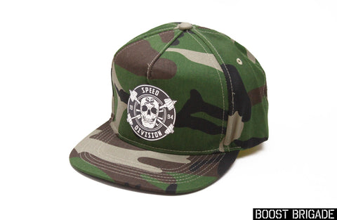 Boost Brigade Speed Division Logo Snap-back Cap - Woodland
