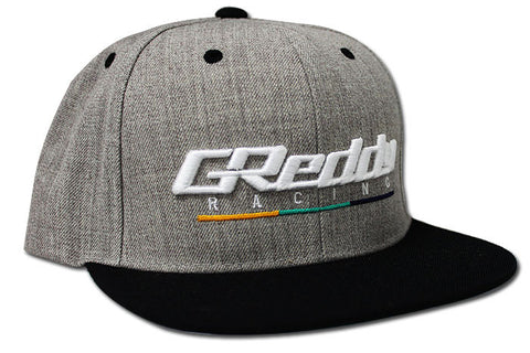 NEW! Team GReddy Racing Snap-Back Cap - Heather/Black