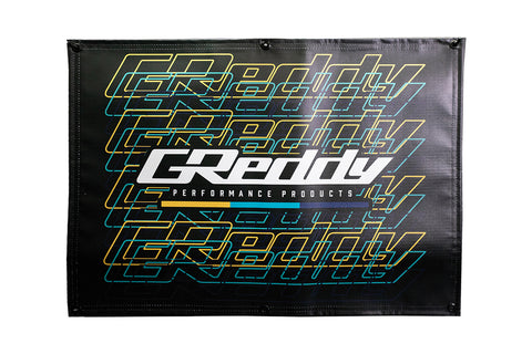 GReddy Multi-logo Hanging Banner - Black - NEW!