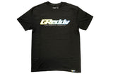 GReddy Logo Tee (with Gradient Outline) - Black