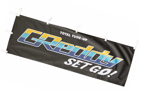 "GReddy""Set Go!"" Nobori Flag / Banner - Black - INTRODUCTORY OFFER!"