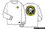 "Boost Brigade ""Squadron"" Long Sleeve Tee - White"