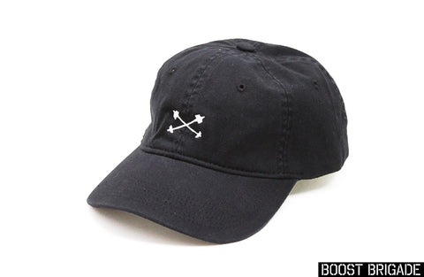 Boost Brigade Cross Turbines Logo Dad Cap - Black