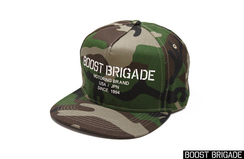 Boost Brigade Motoring Logo Snap-back Cap - Woodland