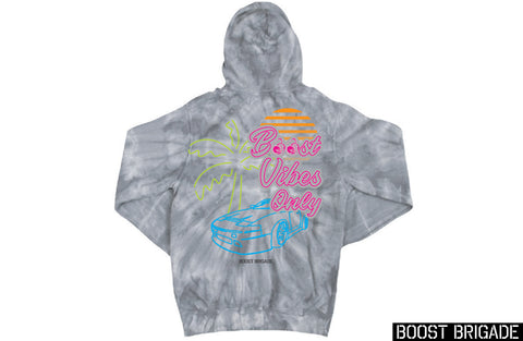 Boost Brigade Boost Vibes Only Pull-over Hoodie - Tie Dye