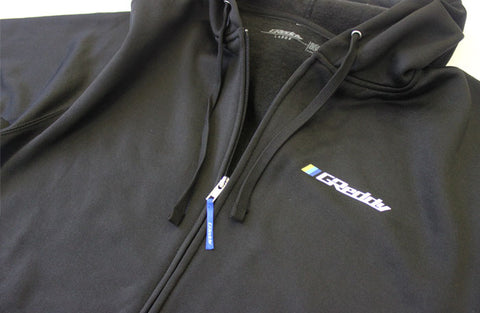 GReddy Zip Hoodie Jacket, Water Resistant, Black