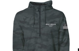 Boost Brigade Motoring Stencil 1/4 Zip Jacket - Black Camo