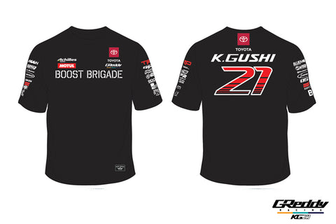 Team GReddy Racing 2019 Black Tee with Sponsor Logos